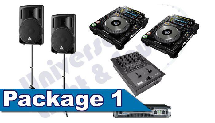 DJ Package Rental - Speakers Pioneer CDJ-2000 Nexus Turntables Rane DJ Mixer