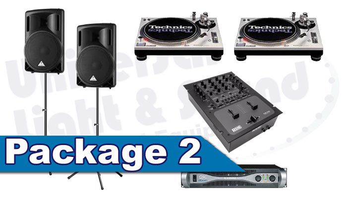 DJ Package Rental - Speakers Technics Turntables Rane DJ Mixer
