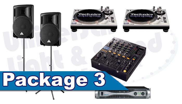 DJ Package Rental - Speakers Technics Turntables Pioneer DJM-800 DJM-900 DJ Mixer