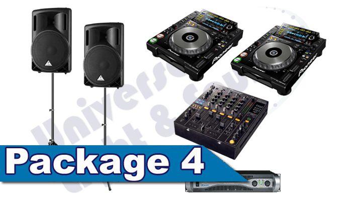 DJ Package Rental - Speakers Pioneer CDJ-2000 Nexus Turntables Pioneer DJM-800 DJM-900 DJ Mixer