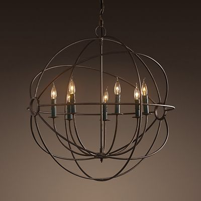 "Orb Chandelier - 36"" Rental"