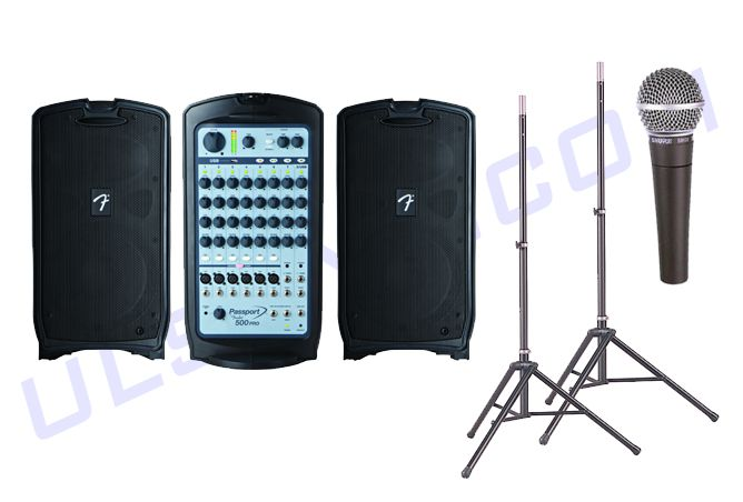 Speakers and Microphone Rental