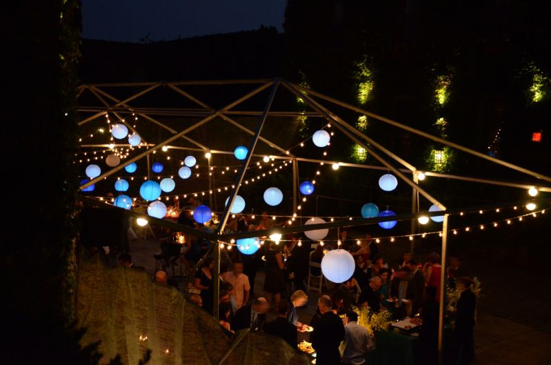 The Foundry - String Ligths and Paper Lanterns suspended under tent