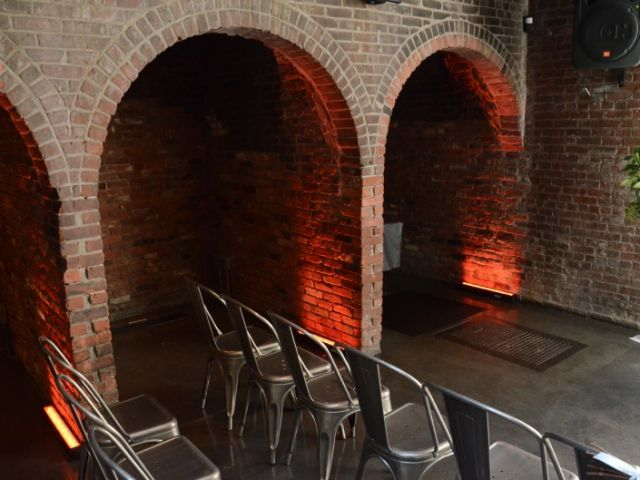 The Foundry (Long Island City, New York) - Up-Lights inside of alcoves