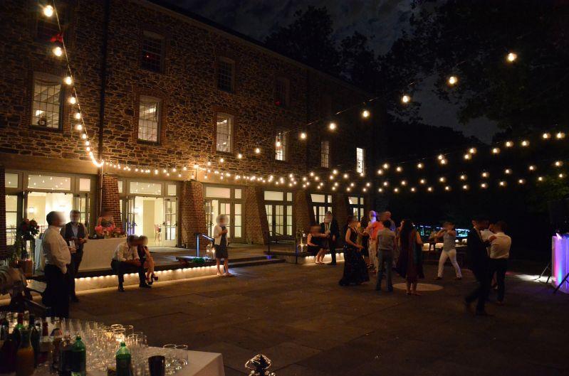 the new york botanical garden stone mill - string lights