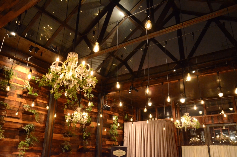 Pendant Lamps suspended in The Atrium Bar at The Brooklyn Winery located in Brooklyn, New York