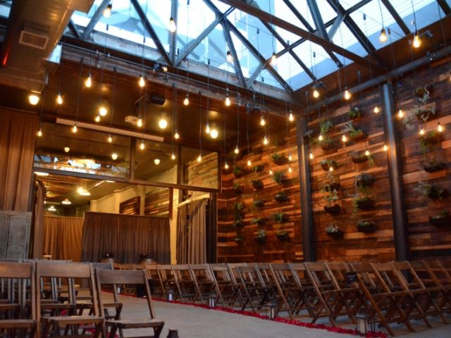 The Brooklyn Winery (Brooklyn, New York) - Pendant Lamps suspended in Atrium