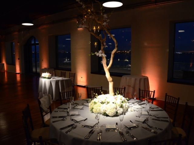 The Liberty Warehouse (Brooklyn, New York) - Table Centerpiece Pin-Spots w/ Up-Lights