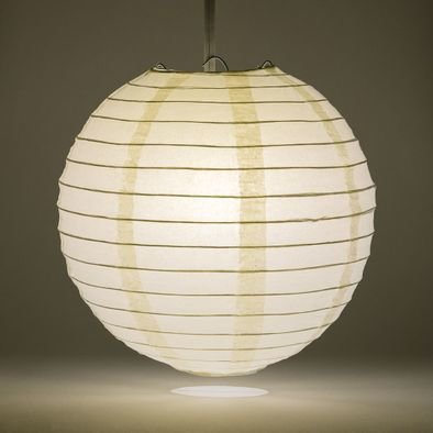 Beige Round Paper Lantern