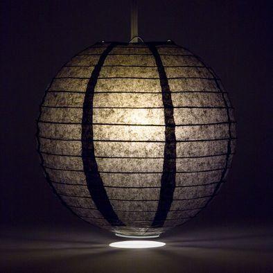 Black Round Paper Lantern Rental