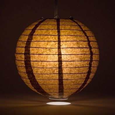 Brown Round Paper Lantern Rental