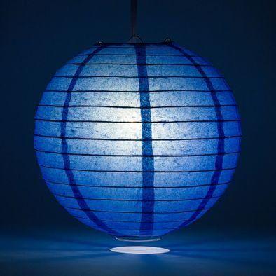 Dark Blue Round Paper Lantern Rental