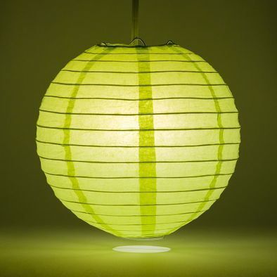 Light Lime Round Paper Lantern Rental