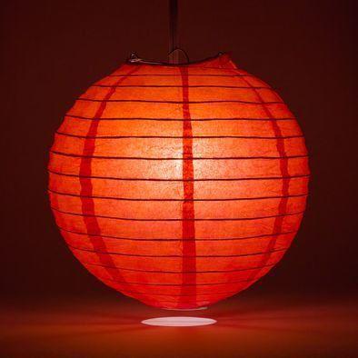 Red Round Paper Lantern Rental