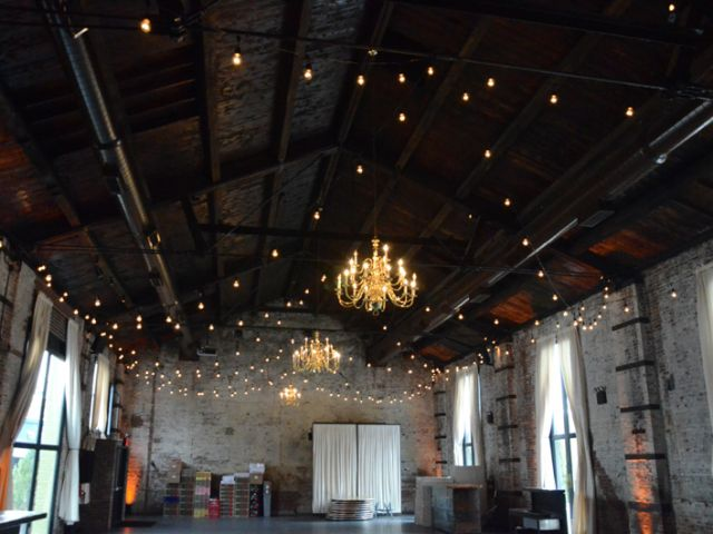 The Green Building (Brooklyn, New York) - 400ft of String Lights with S14 bulbs suspended  in a zigzag pattern