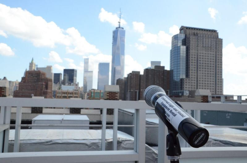 The Tribeca Rooftop (New York, NY) - Microphone and Speaker at Rooftop Ceremony