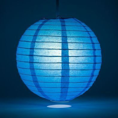 Turquoise Round Paper Lantern