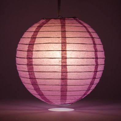 Violet Round Paper Lantern