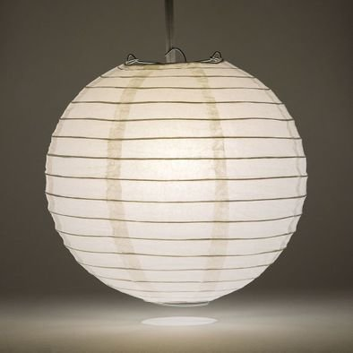 White Round Paper Lantern Rental