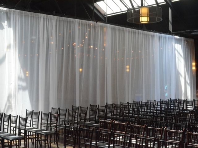 Suspended across the width of the Main Room under the 3rd Beam. Sheer Curtain - Approximately $360 (Plus - NYC Sales Tax & Delivery)