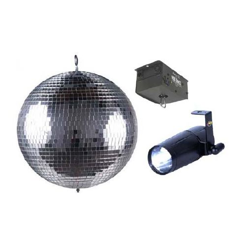 ADJ - 16 Mirror Ball with AC Motor and LED Pinspot