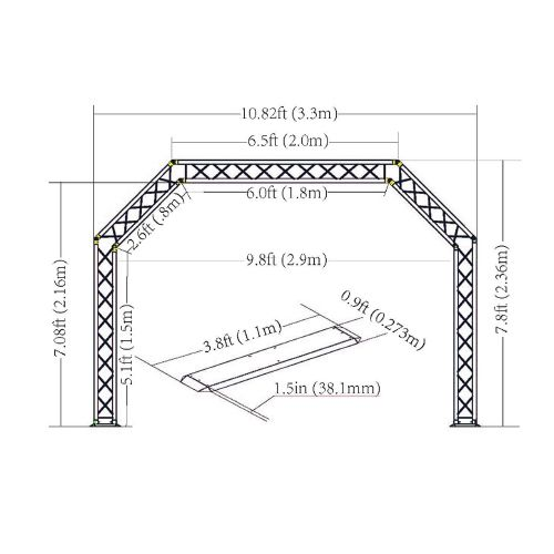 Global Truss Arch DJ Truss System 10FT Wide x 8FT