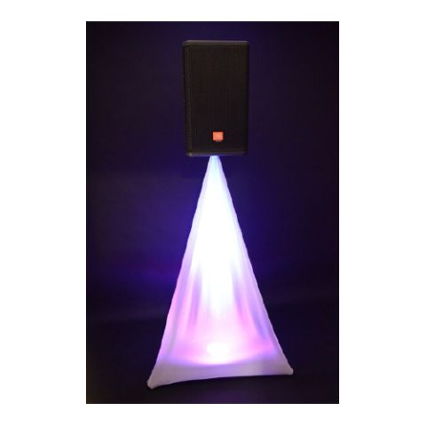 White Spandex Lycra Speaker Stand Covers