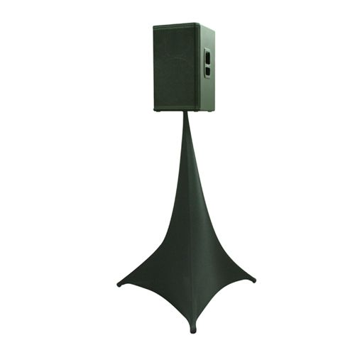 Black Spandex Lycra Speaker Stand Covers