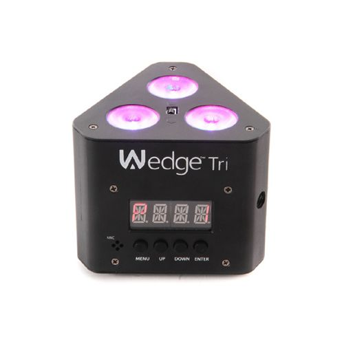 Chauvet DJ Wedge Tri RGB LED DMX Triangle-Shaped Wash Light Effect