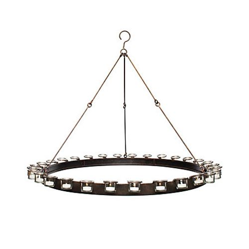 Circular Chandelier w/ Votive Candle Holders