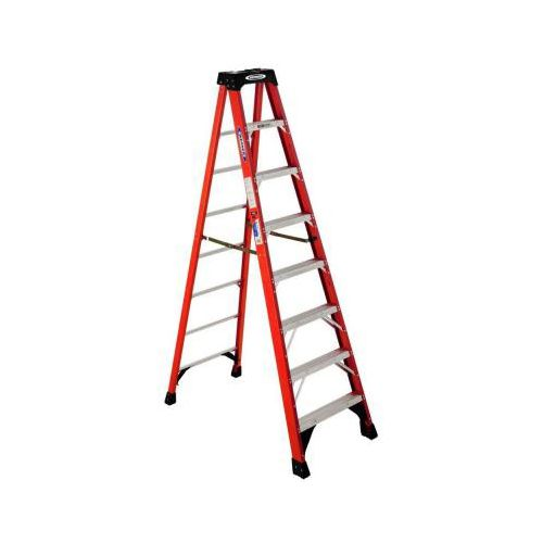 Werner 8 ft. Fiberglass Step Ladder with 300 lb. Load Capacity Type IA Duty Rating