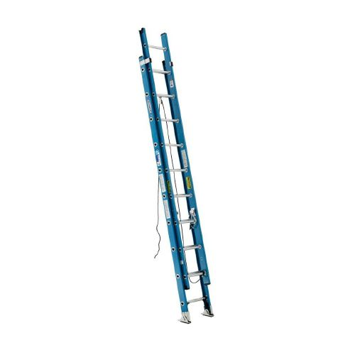 Werner 16 ft. Fiberglass Extension Ladder with 250 lb. Load Capacity Type I Duty Rating