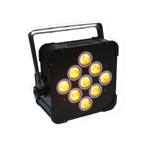 Wireless Battery LED Uplight RGBWA+UV 9x18W