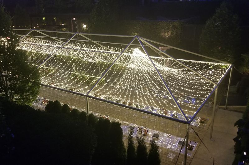 The Foundry - Canopy of Mini LED String Lights