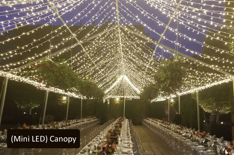 The Foundry - Mini-LED String Lights Canopy
