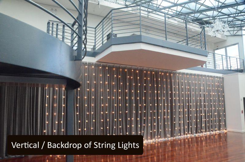 Vertical Backdrop of String Lights
