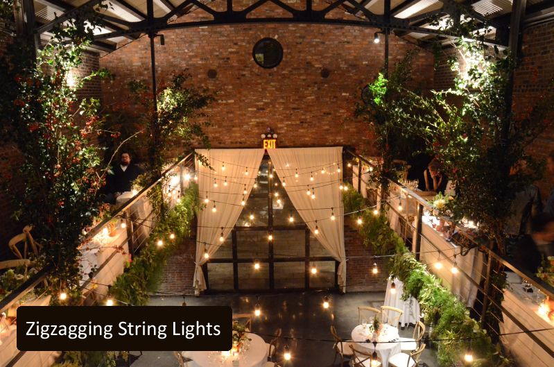 Zigzagging String Lights