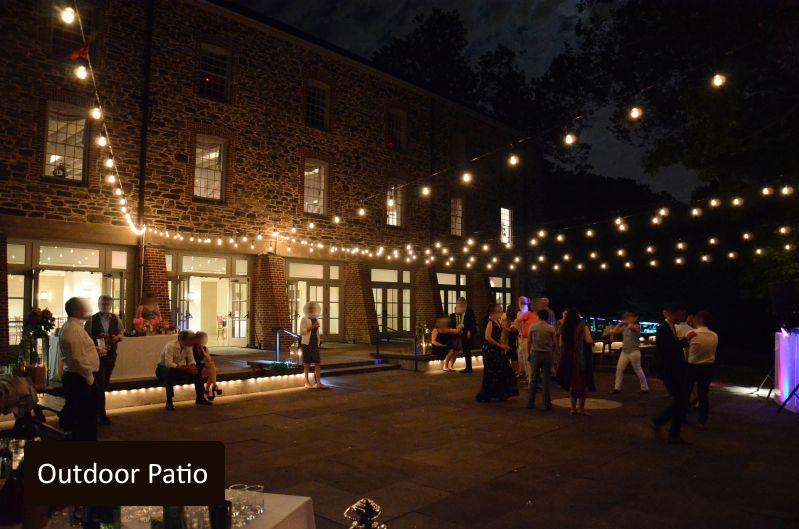 String Lights above Outdoor Patio