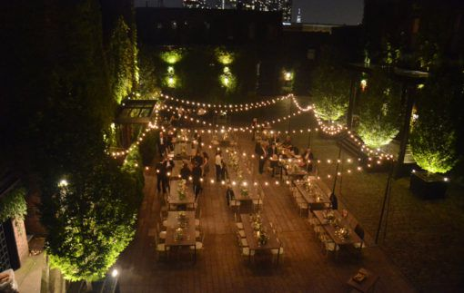 The Foundry - String Lights - Courtyard