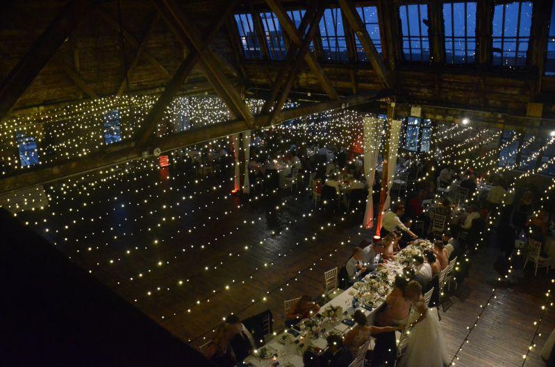 The Greenpoint Loft - Canopy of Mini LED String Lights
