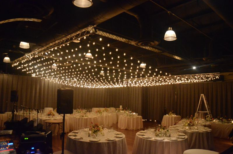 the lighthouse at chelsea piers - Canopy of String Lights