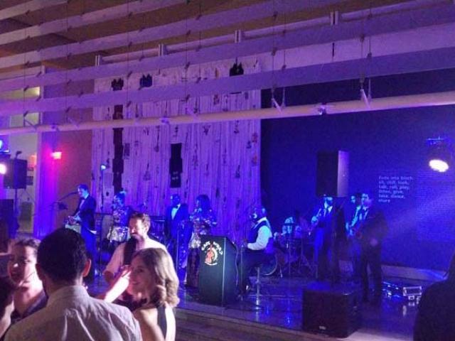 The Queens Museum - Band and Dance Floor Intelligent Lighting