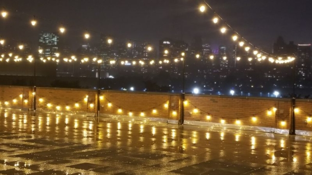 The Bordone - String Lights above 3rd Floor Patio