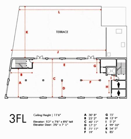 The Bordone LIC - 3rd Floor - Floor Plan