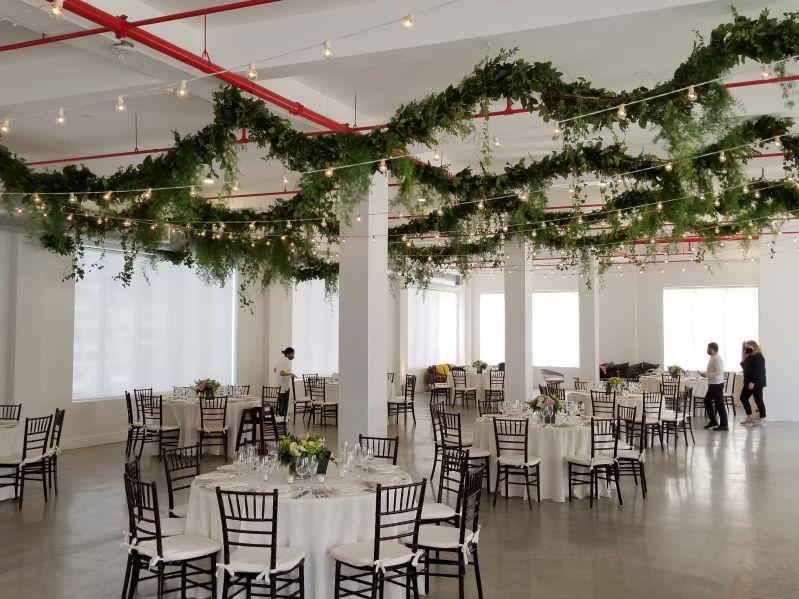 The Bordone LIC - 3rd Floor - String Lights & Up-Lights in Main Reception Room