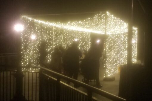 Tunnel of LED Lights - Outdoor Wedding - The Clubhouse of Lake Success