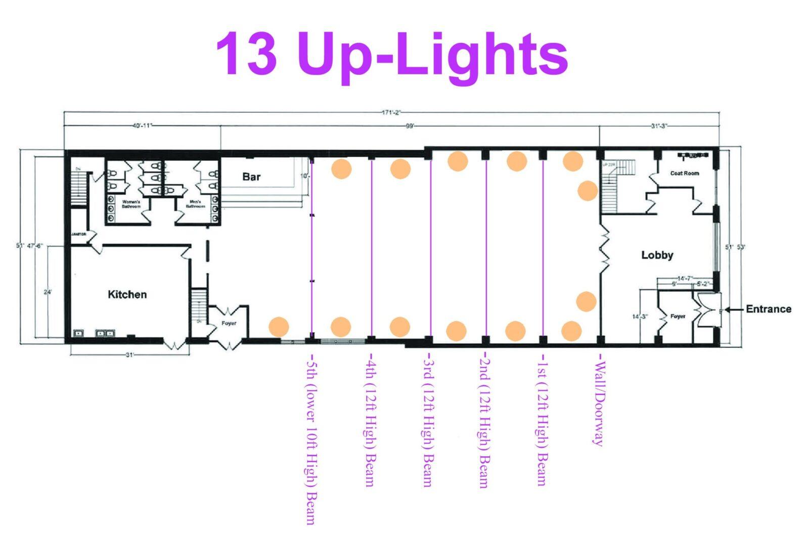 26 Bridge (13 Up-Lights)