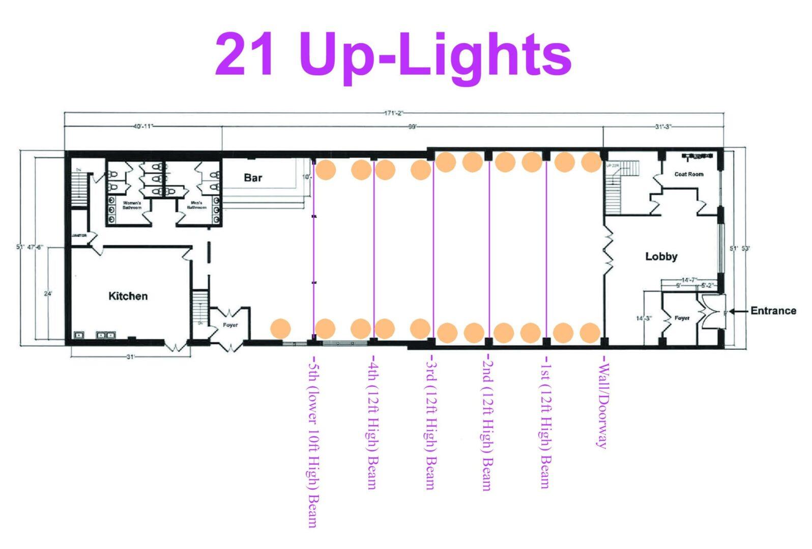 26 Bridge (21 Up-Lights)